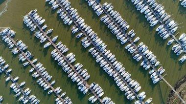 Aerial photo of Pornic Noeveillard marina