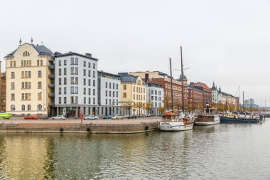 Helsinki city view in autumn