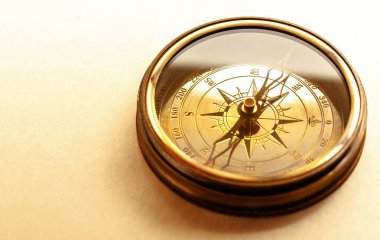 Vintage brown compass