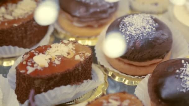 Průčelí s detailním chutné dorty
