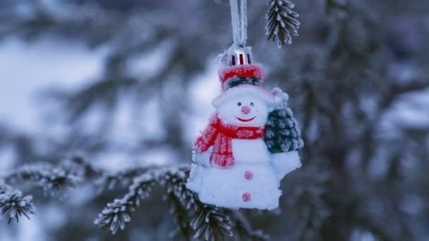 Zdobené vánoční strom mimo