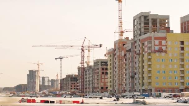 Budovy ve výstavbě na staveništi