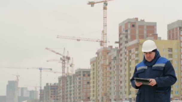 Mistr s Poznámkový blok na hlavní stavební projekt