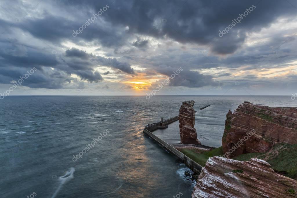 Sunset on the island of Helgoland