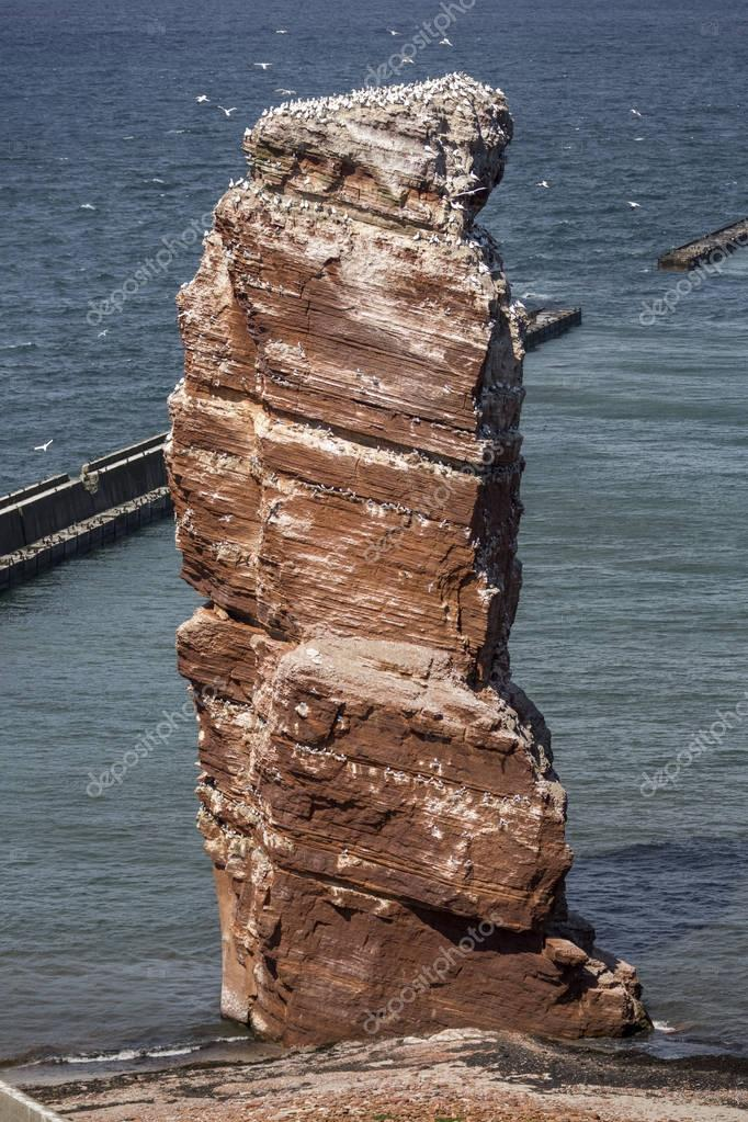 Lange Anna - the high sea stack on the island of Helgoland