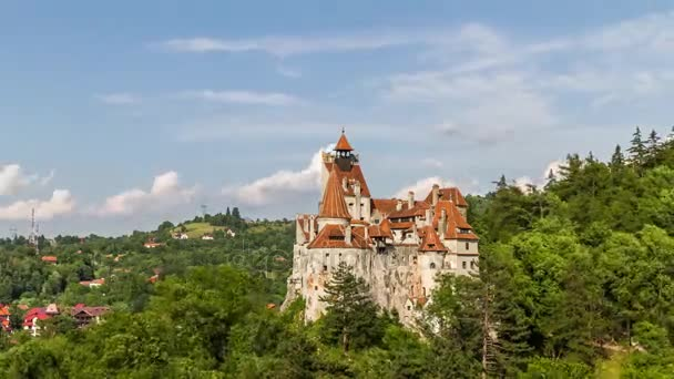 Timelapse view of Dracula Castle in Bran
