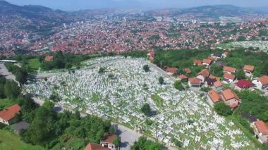 Bosnian town with Muslim cemeteries