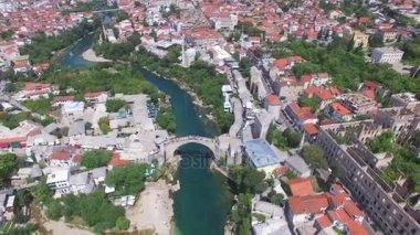 Mostar city on river Neretva