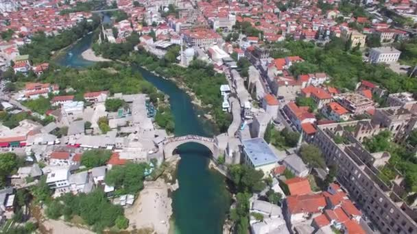 Mostar city on river Neretva