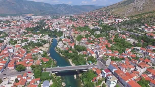 bridges and houses in Mostar