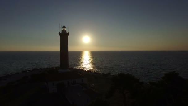 Leuchtturm, Kroatien am Abend