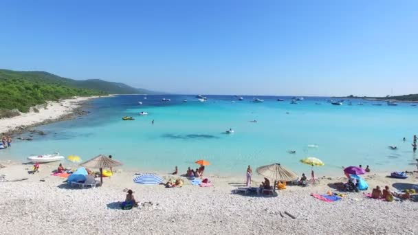 white sandy family beach
