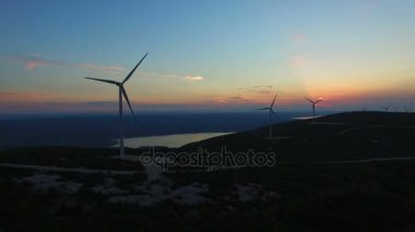 windmills for the production of renewable energy