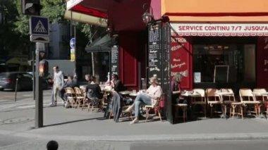 Quiet street cafe corner in Paris