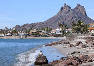 A Scenic View of Tetakawi Mountain Above San Carlos, Sonora, Mex
