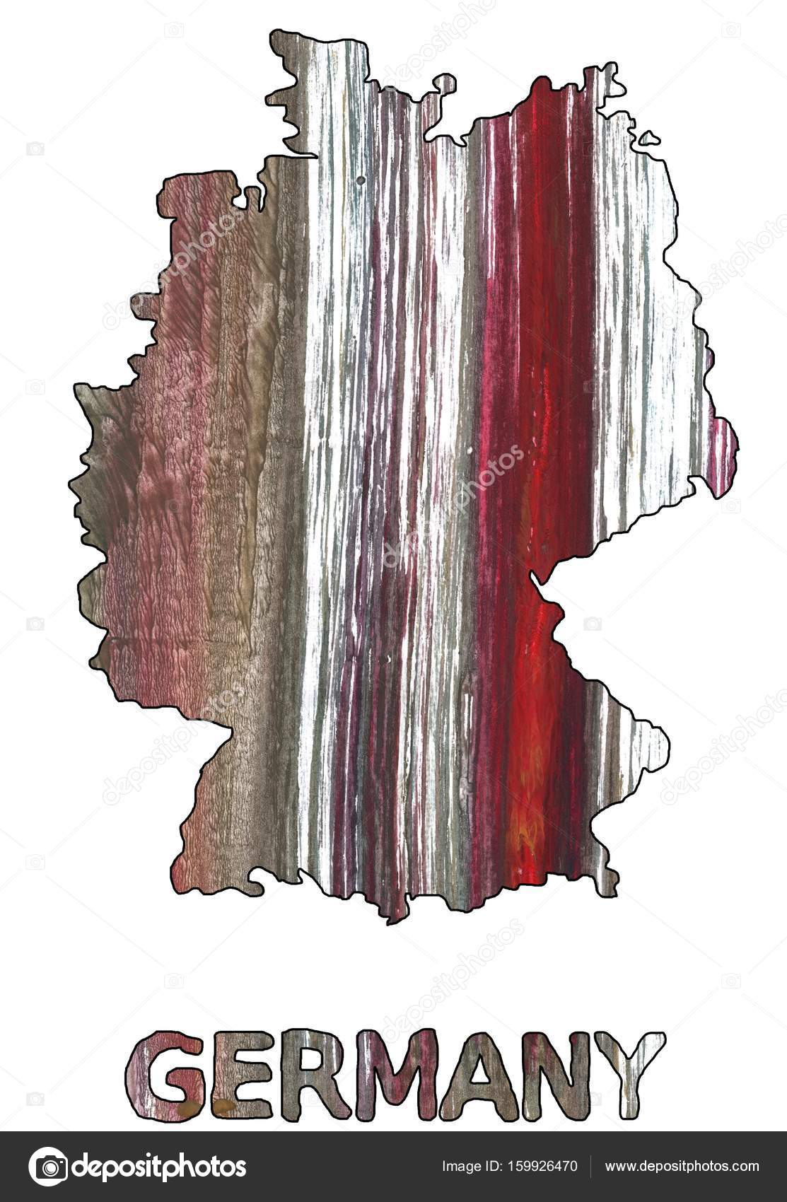 Germany Map Outline Wenge Watercolor Stock Photo Genrus - Germany map outline