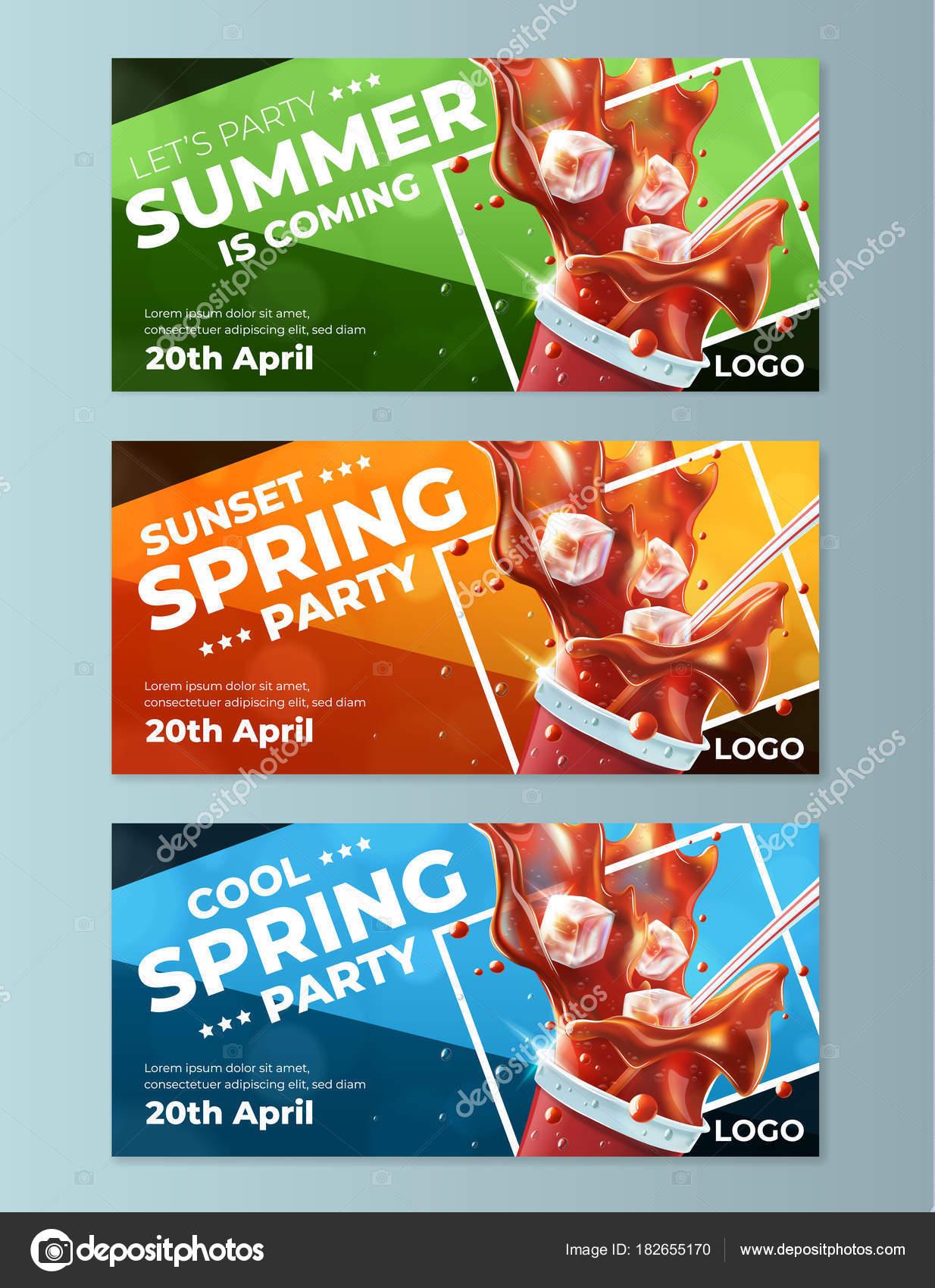 modelos de panfletos festa primavera vetores de stock