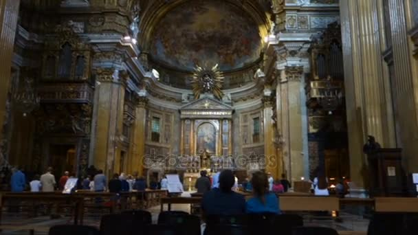 Church of the Ges, baroque interior, Rome, Italy