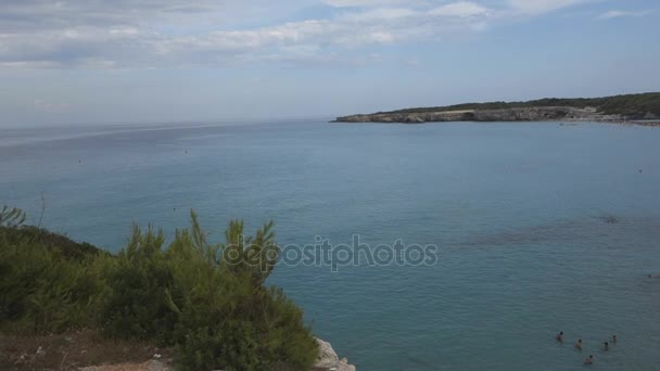 LECCE, ITALY: Torre dellOrso beach on adriatic sea in Salento, Puglia