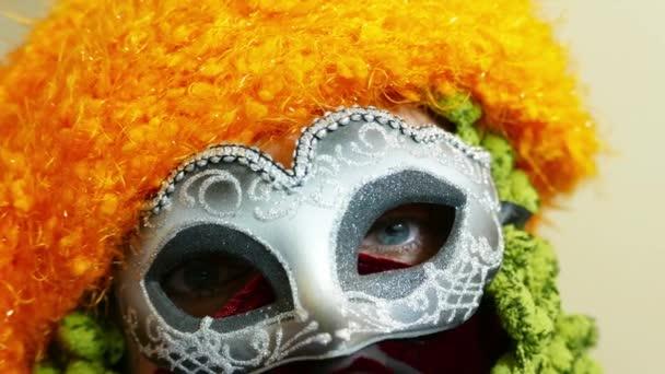 Venezianische Karnevalsmaske aus nächster Nähe