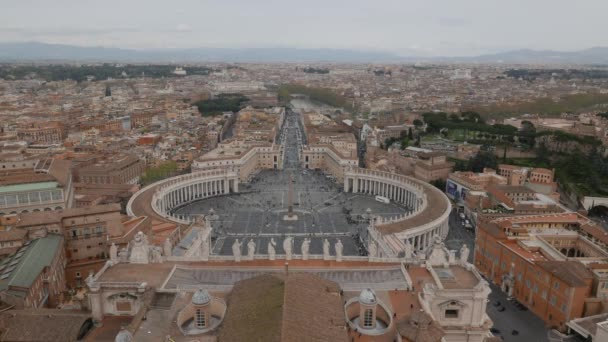 Aerial view of the Saint Peters Square (Piazza San Pietro) in Vatican City, Rome, Italy
