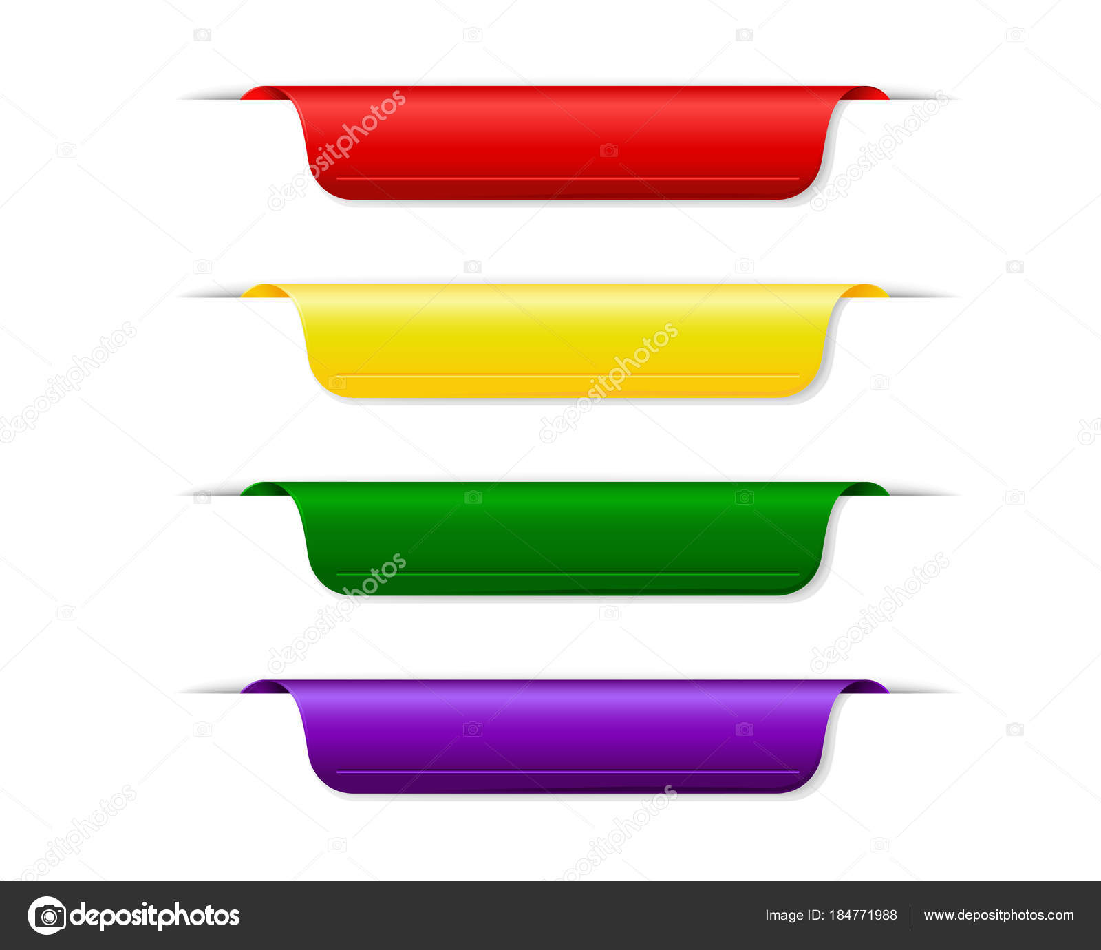 set of colored blank bookmarks — Stock Vector © Balora #184771988