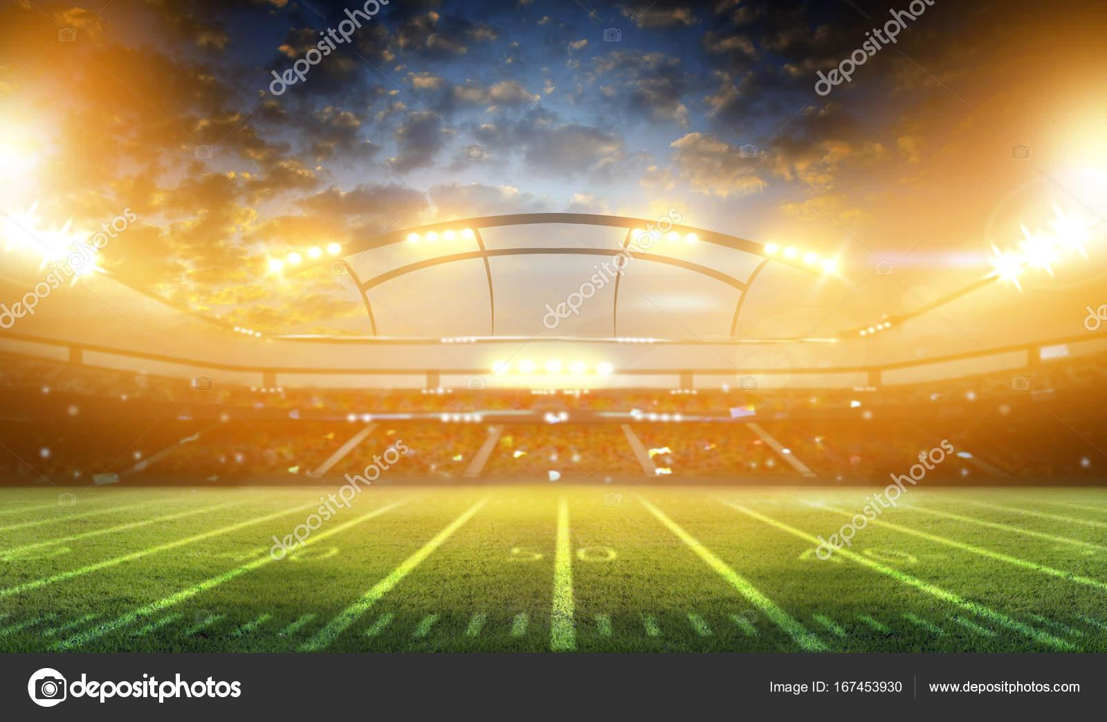 Nacht Und Fussballstadion Stockfoto C Wingenesis Gmail Com