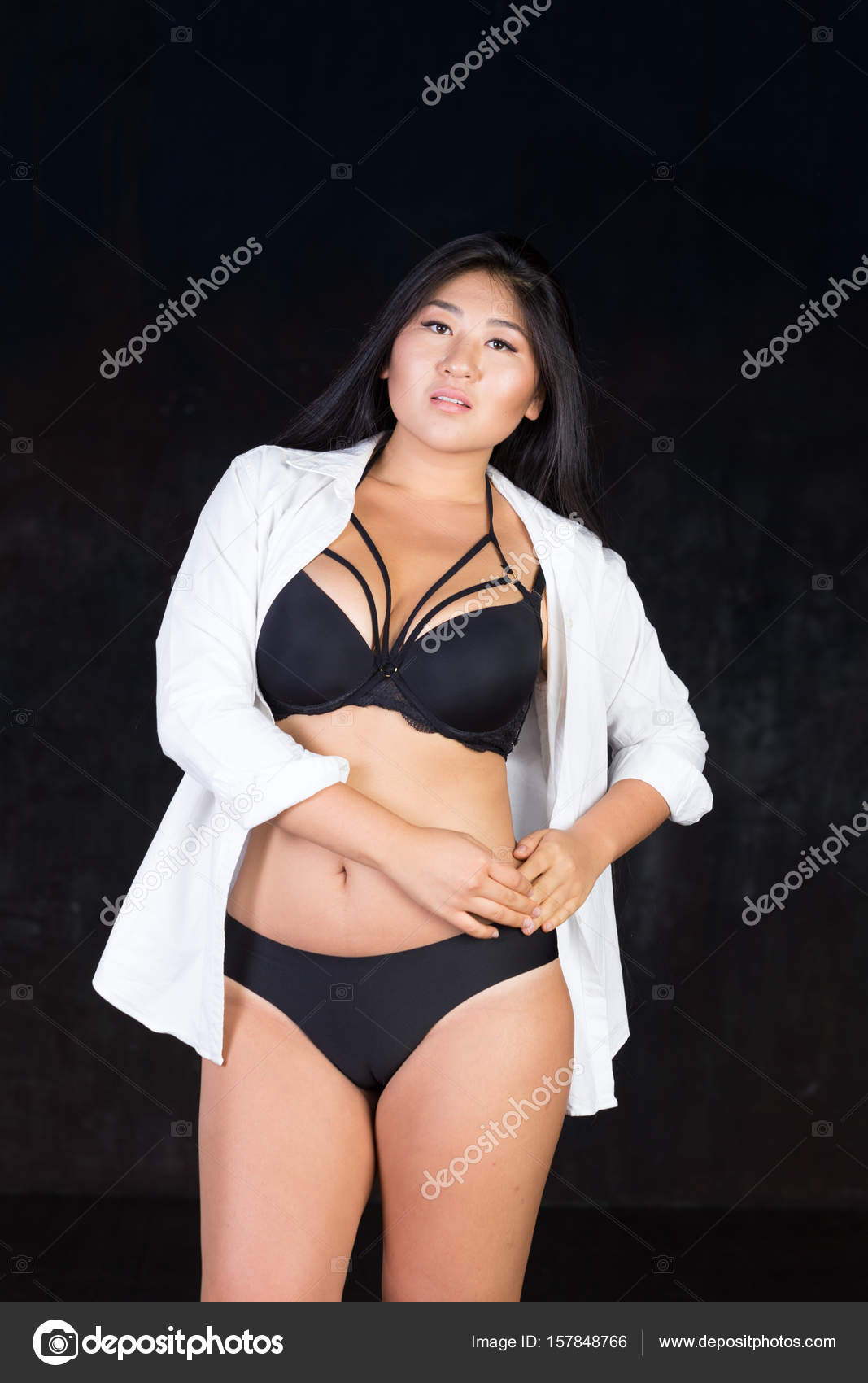 Curvy shorts asian lingerie