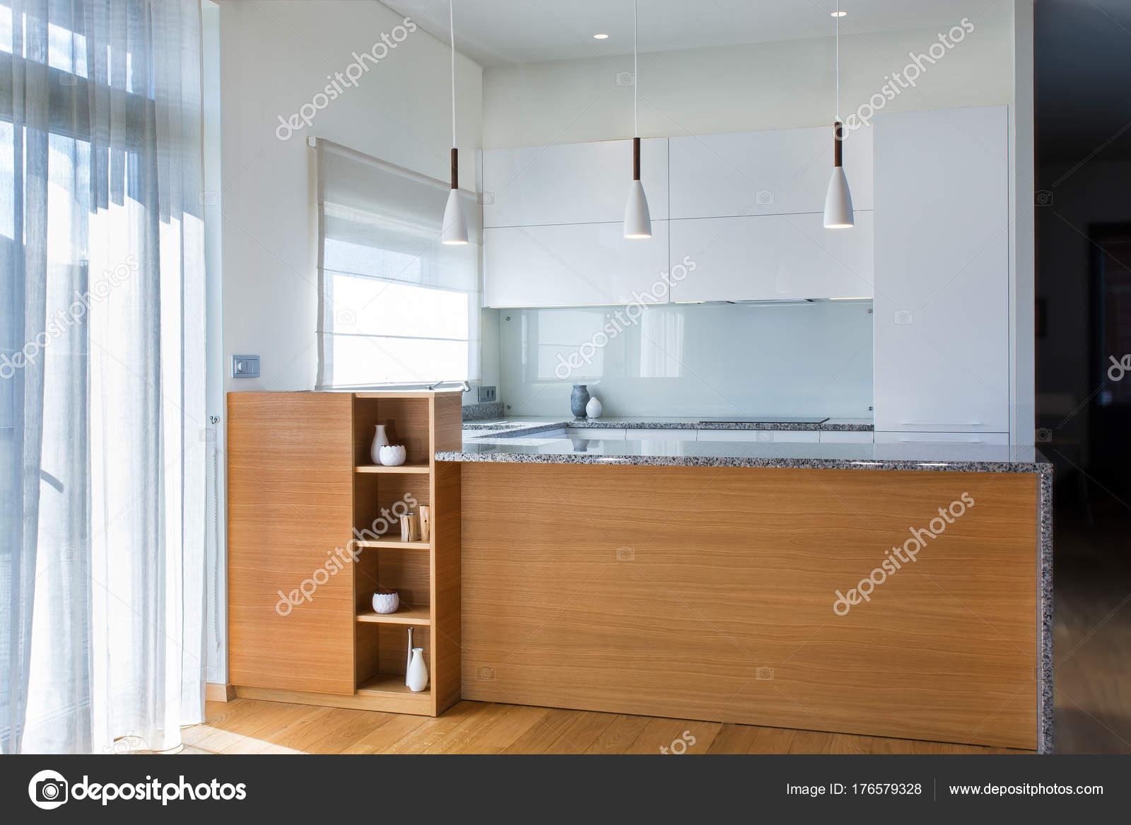 Moderno Diseño Muebles Cocina Interior Claro Con Detalles ...
