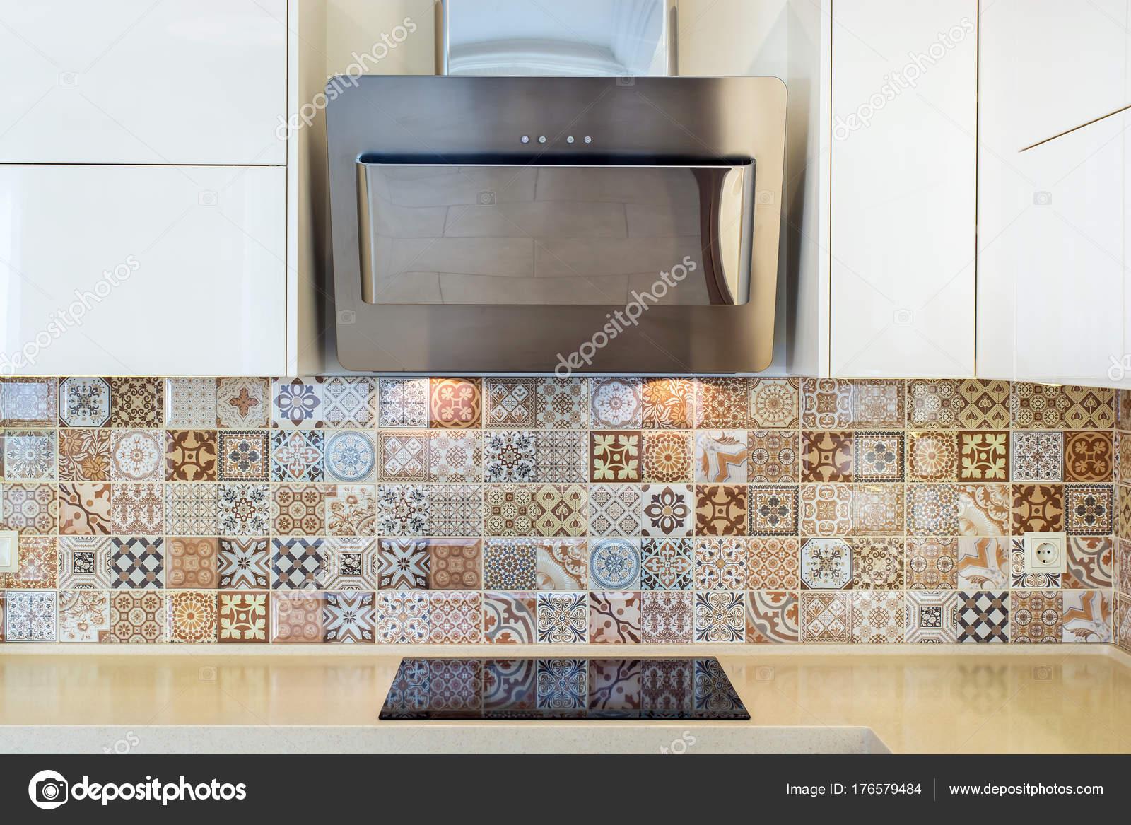 Moderne interieur moderne ontwerp van keuken een lichte interieur
