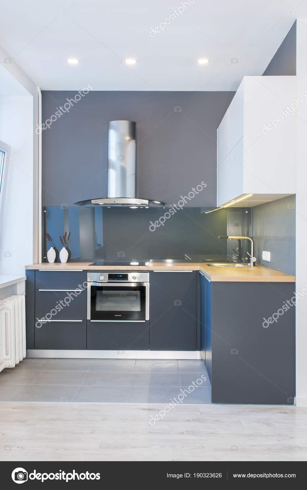 Interno Casa Moderna Design Moderno Cucina Luce Interno Con ...