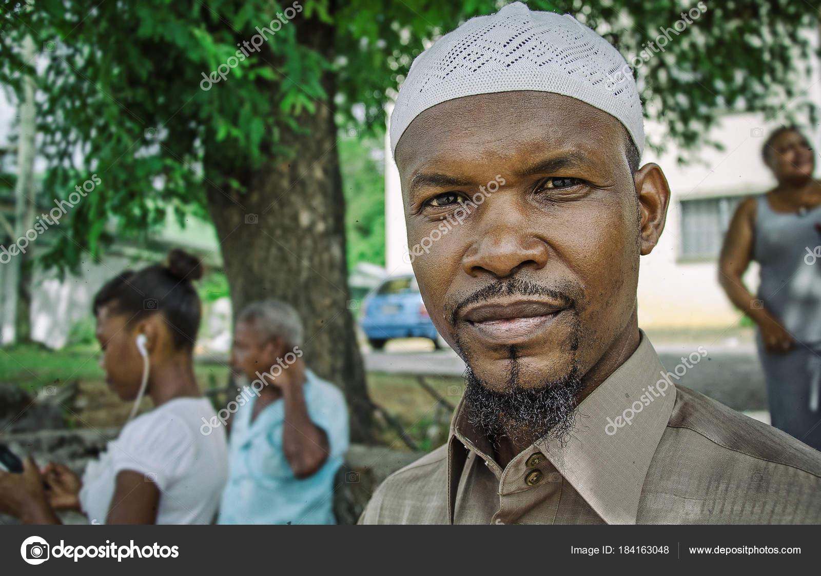 Aboriginal Creole Muslim Guy Street Victoria Seychelles Jul