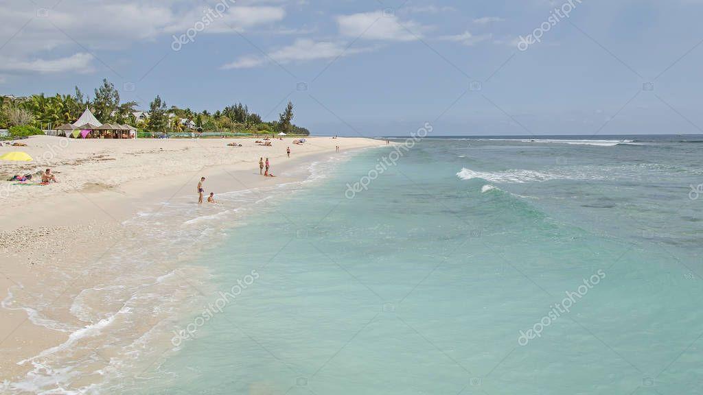 Nice beach of the Reunion island