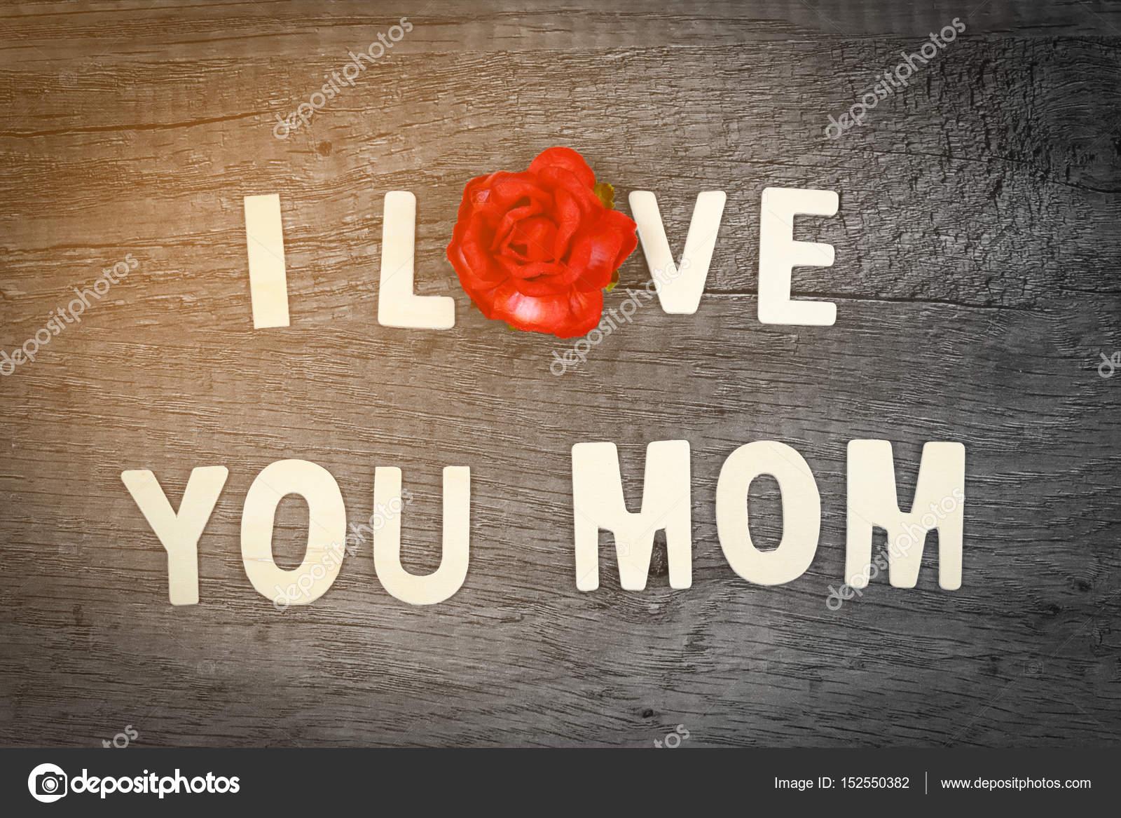 Me encanta a mamá fraseología en concepto de día de madre vieja de ...