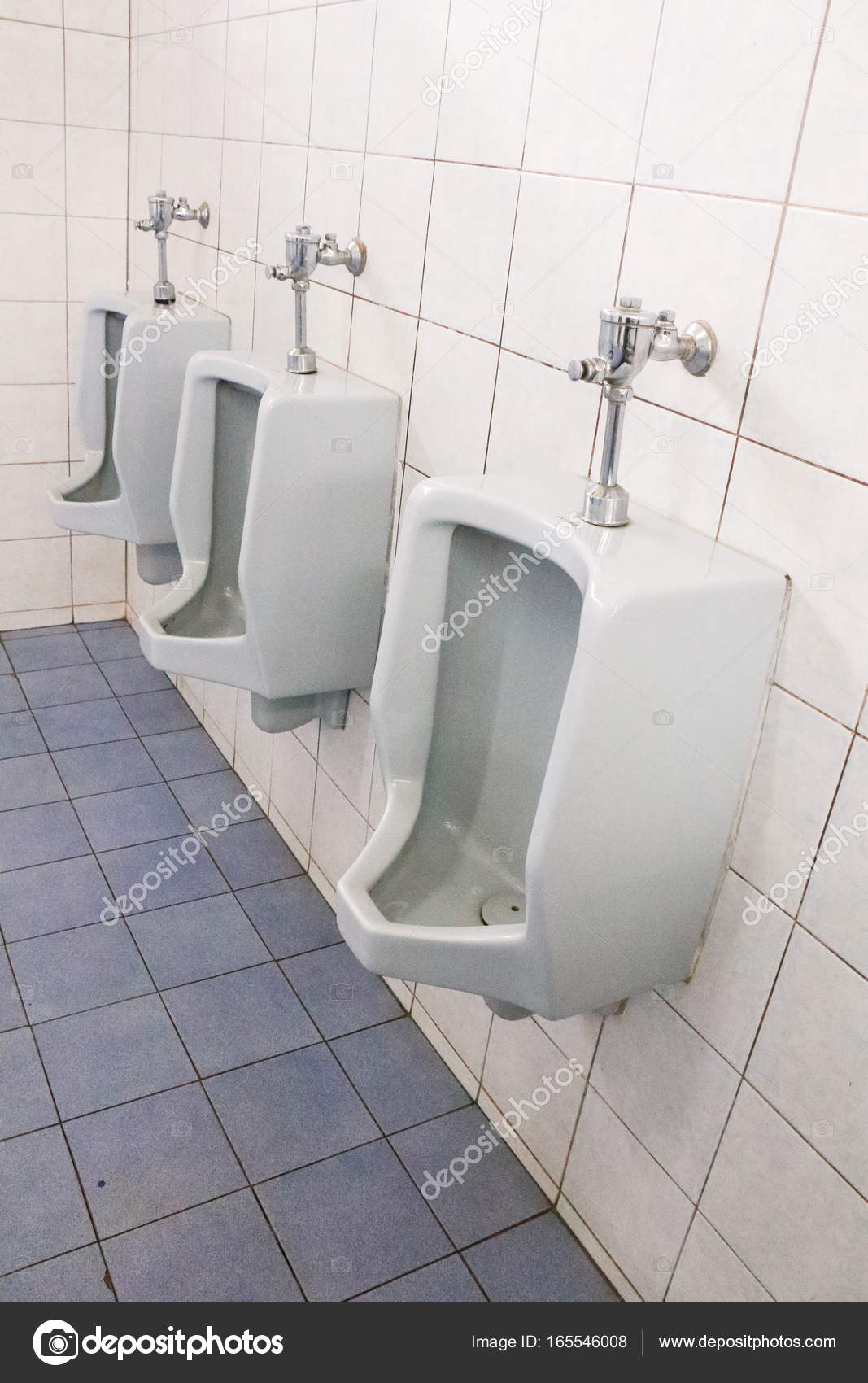 Menu0027s Bathroom, Design Of White Ceramic Urinals For Men U2014 Stock Photo