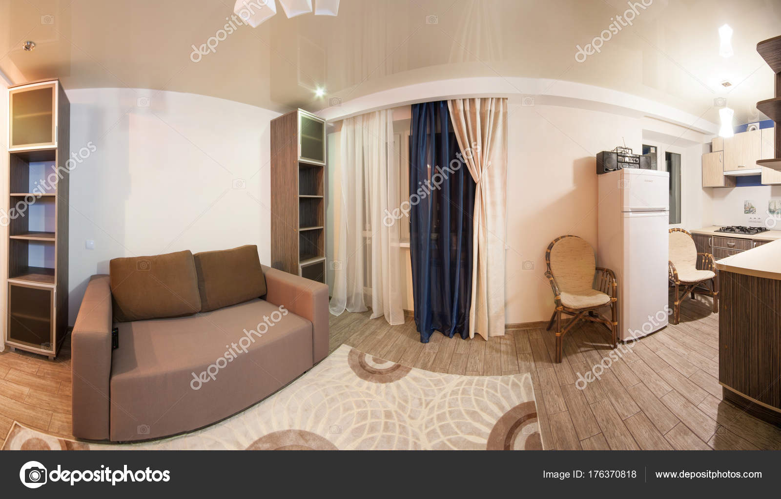 Kamer met rustgevende kleuren huiselijke sfeer u stockfoto