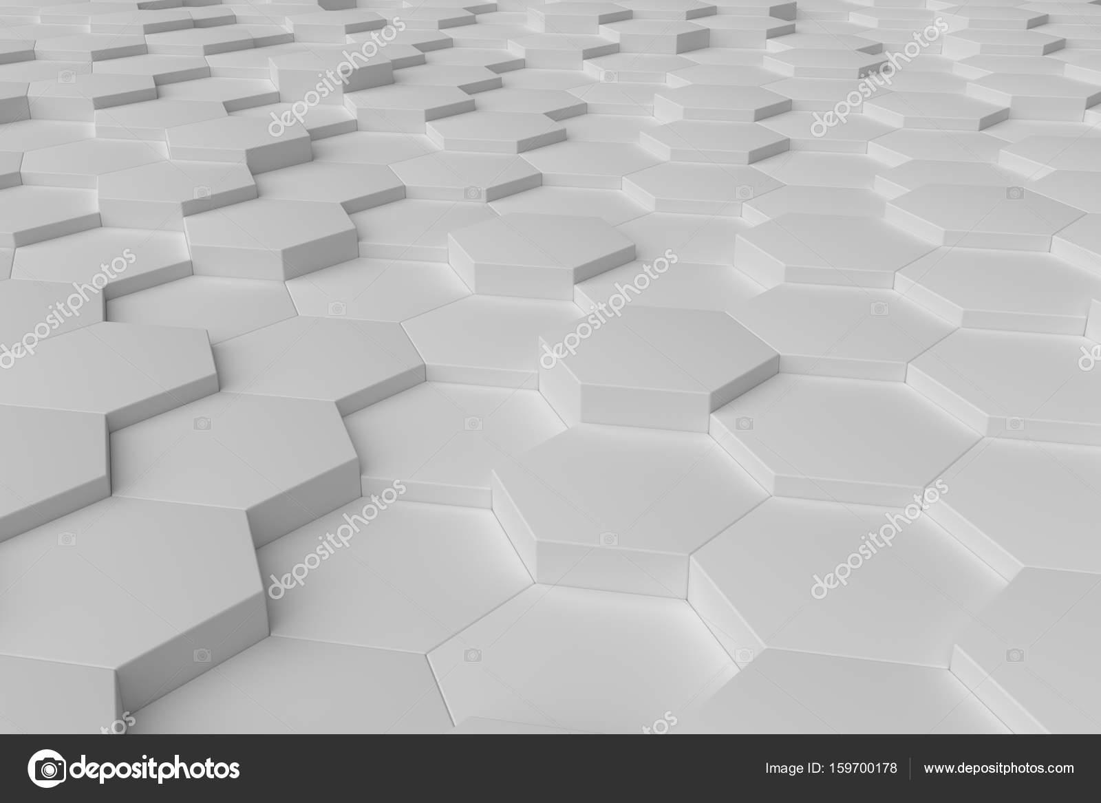 Hexagon Tegels Wit : Witte monochrome hexagon tegels abstracte achtergrond u stockfoto