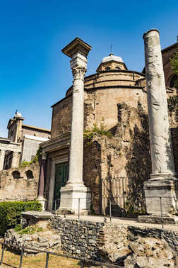 Temple of Romulus in the Roman Forum, Rome, Italy