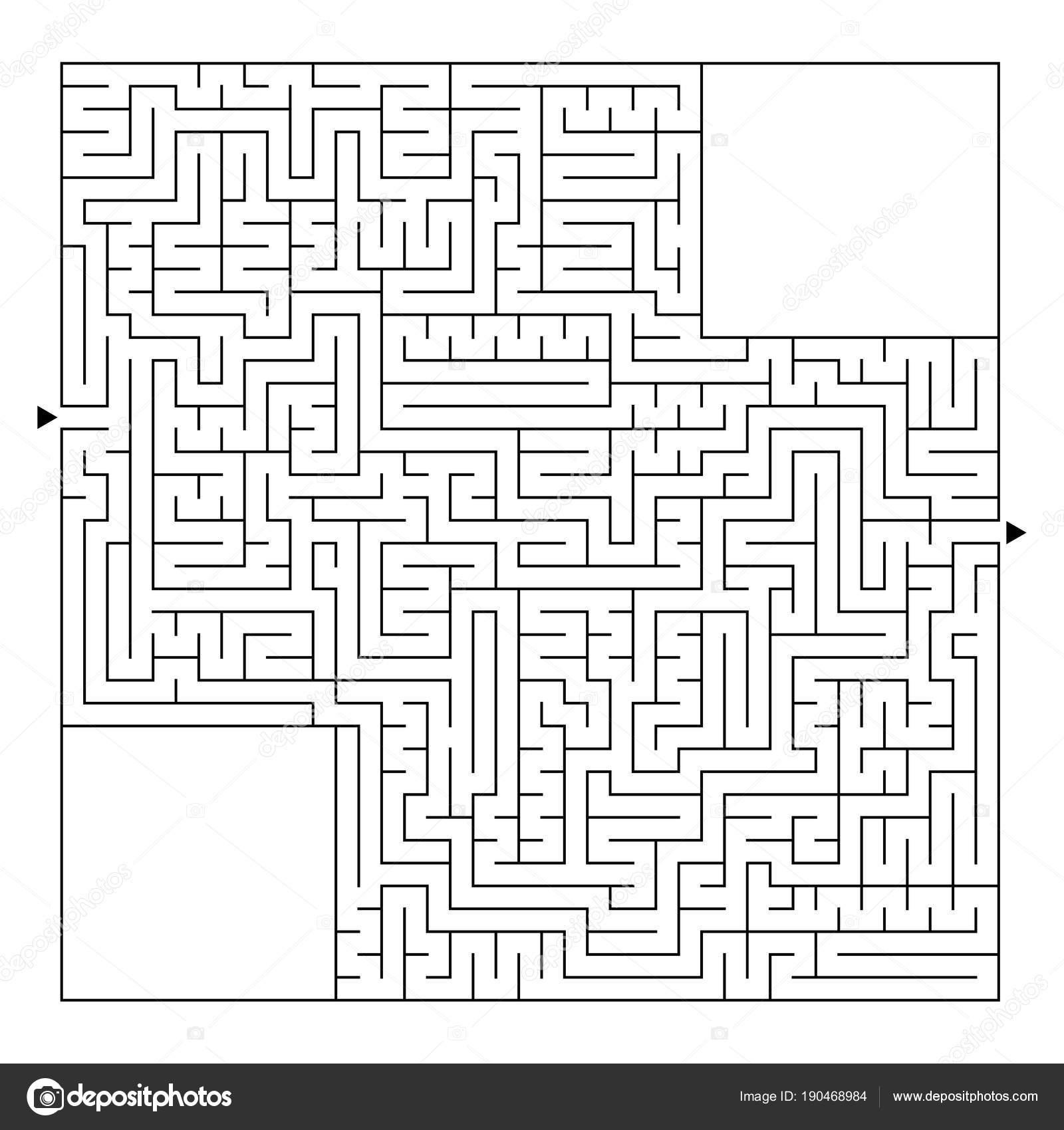 Velky Ctvercovy Labyrint S Vstupni A Vystupni Jednoduchy Plochy