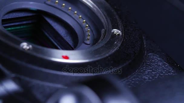 Makro Nahaufnahme von Dslr-Kamera