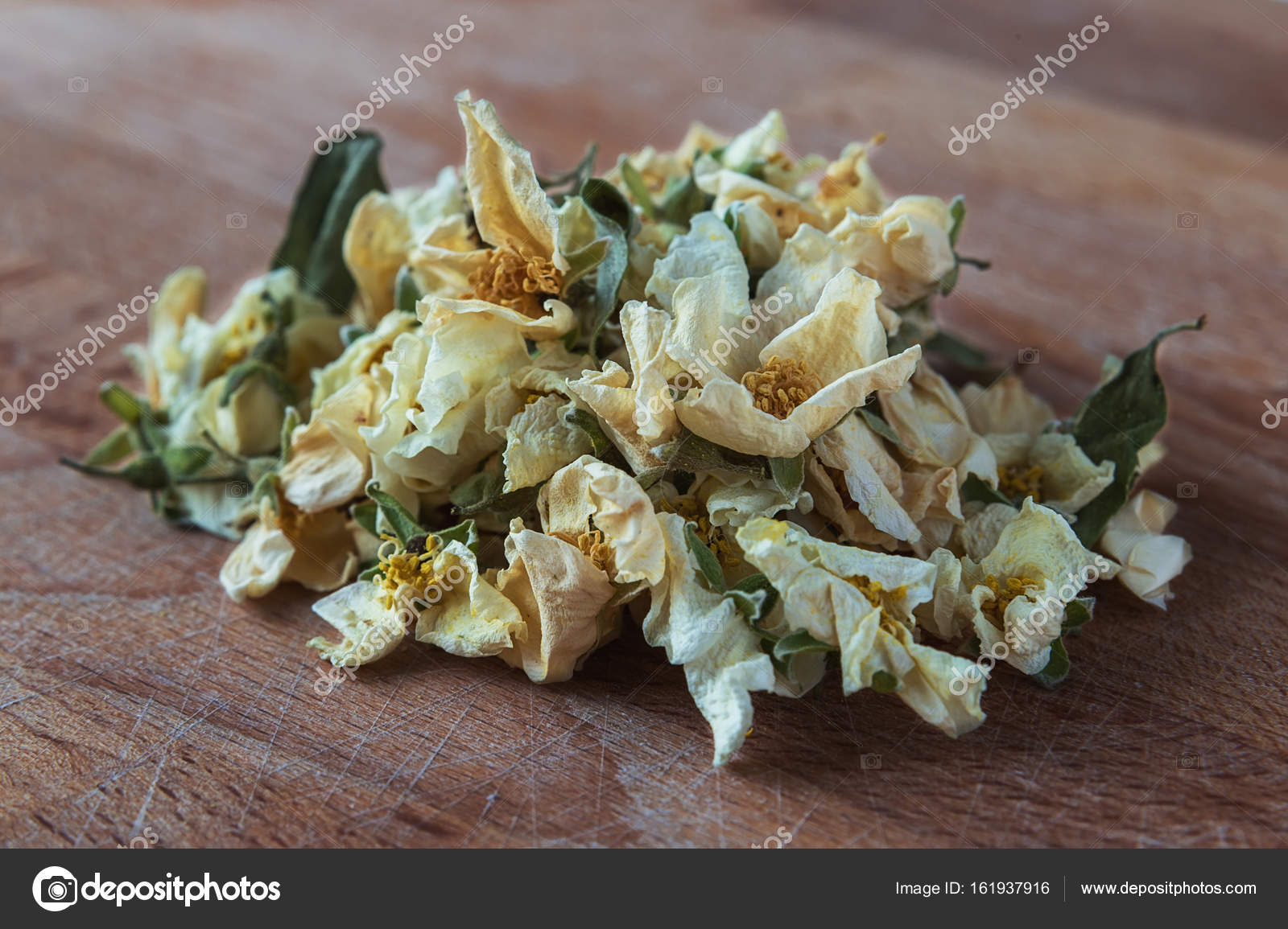 Dried Jasmine Flowers For Tea Stock Photo Almandreev 161937916