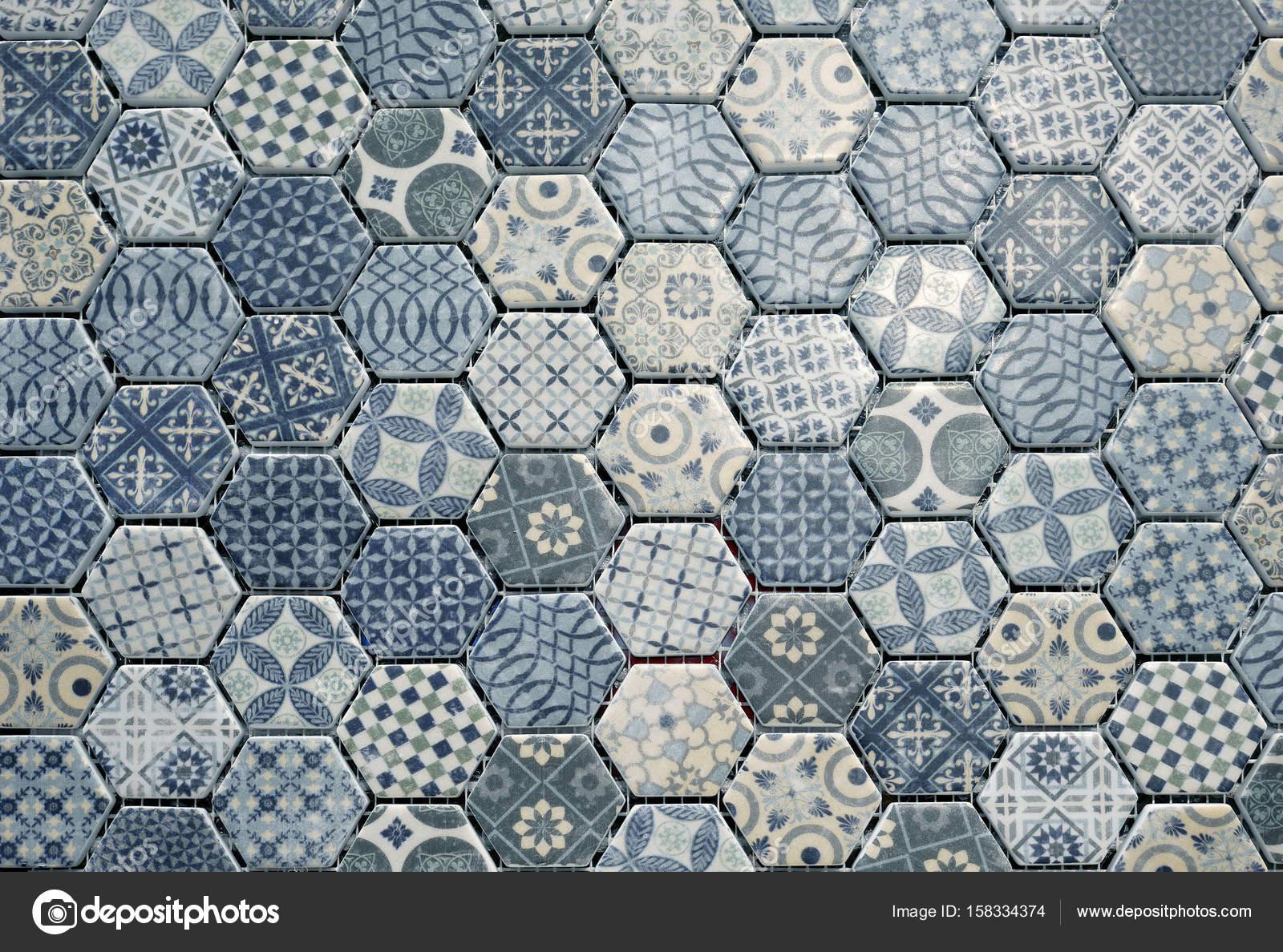 Piastrelle di ceramica esagonale u foto stock nunawwoofy