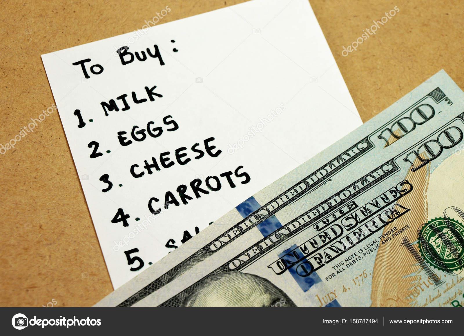 shopping list on budget stock photo nunawwoofy 158787494