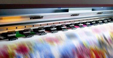 Working print machine.