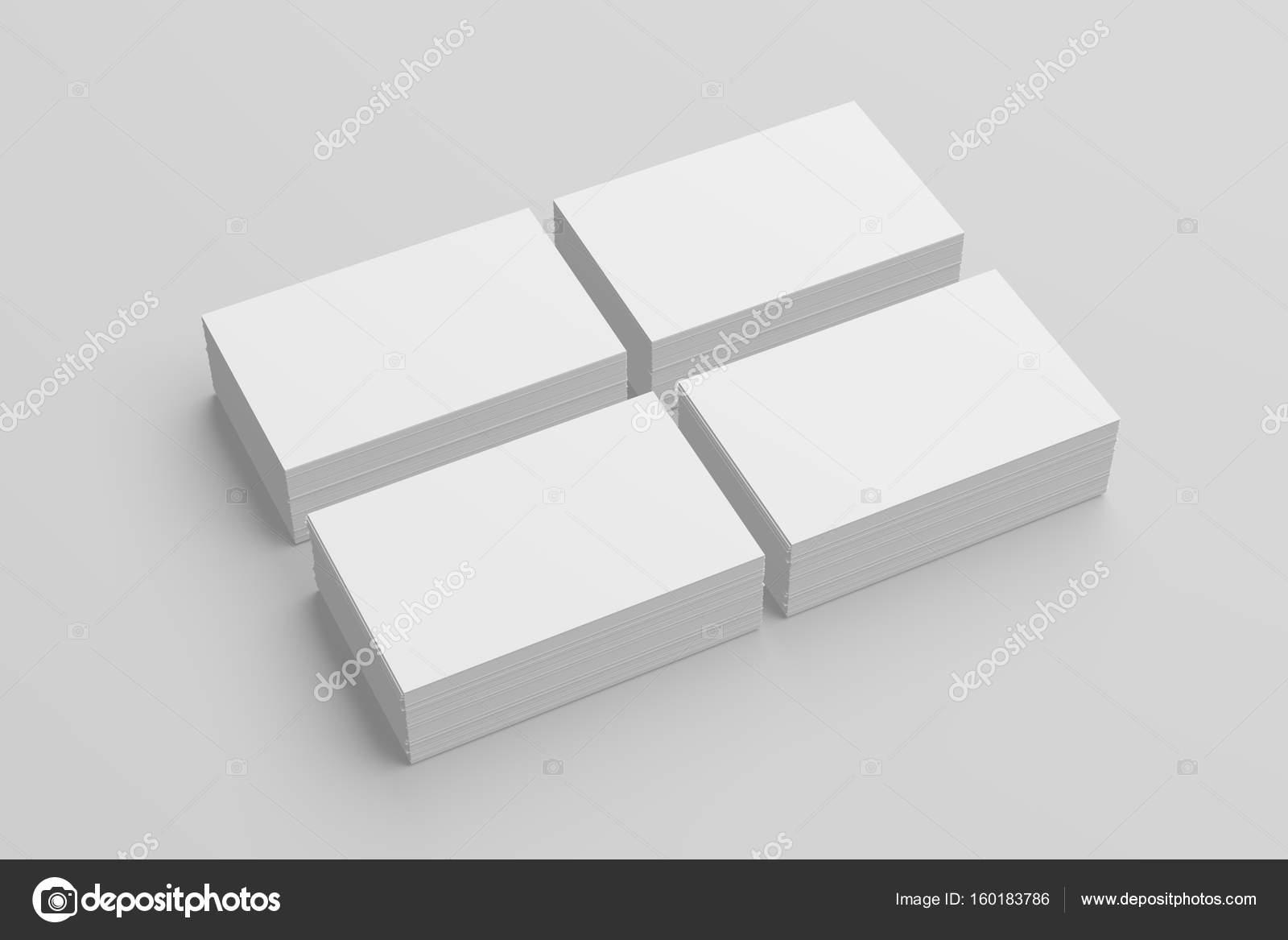 Carte De Visite Maquette Sur Fond Blanc Avec Des Ombres Douces Et Met En Evidence 3D Illustree Image Sarmdy