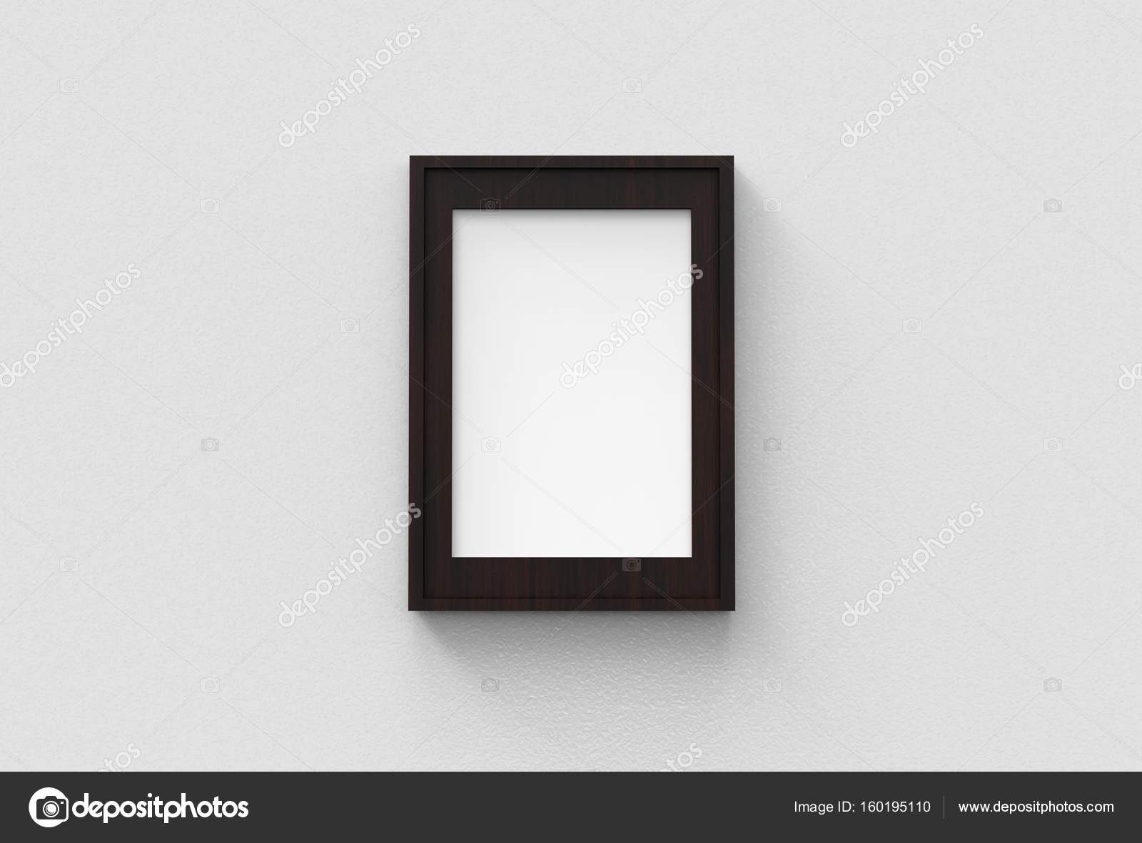 Picture frame isolated on white drywall background — Stock Photo ...