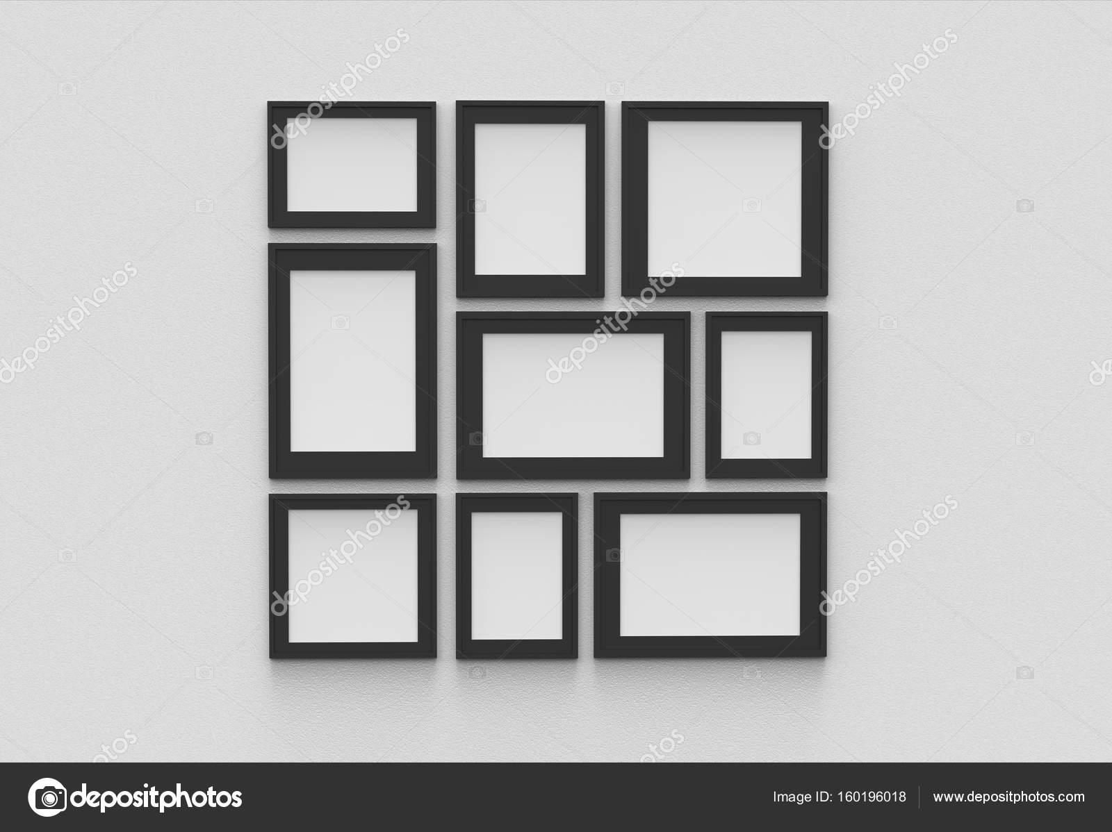 Bilderrahmen auf weißen Trockenbau Hintergrund isoliert — Stockfoto ...