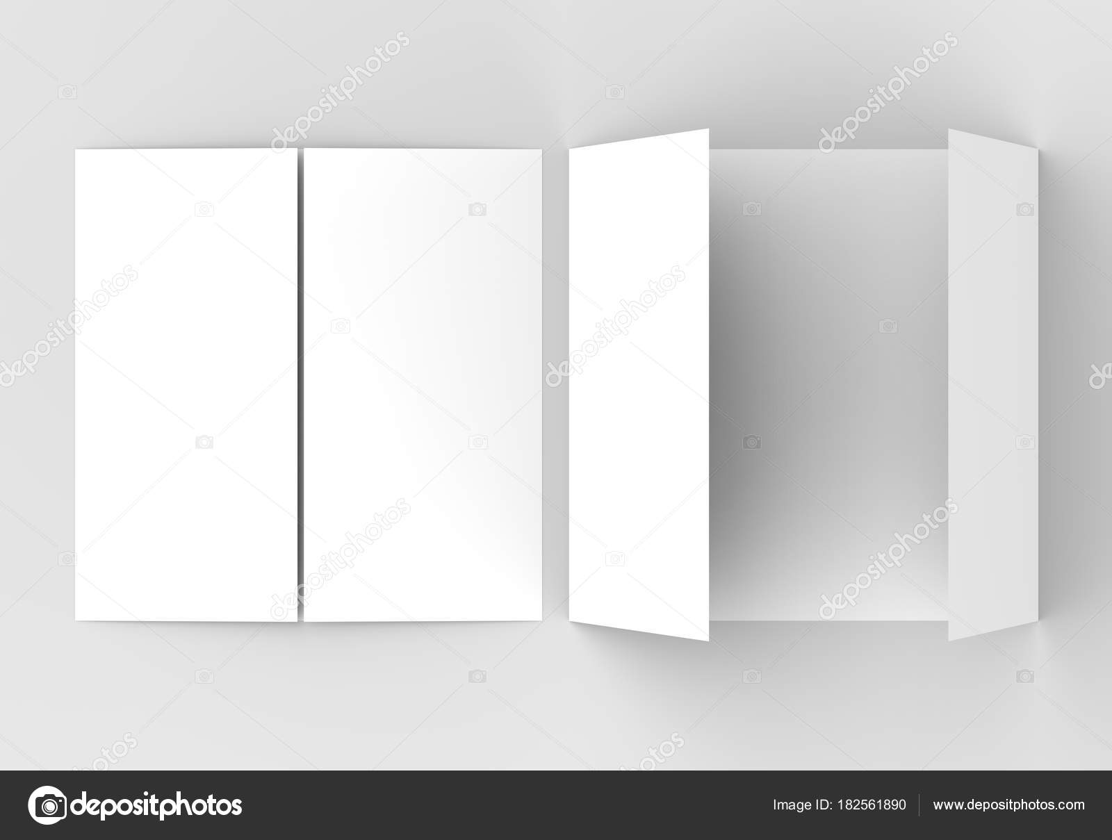Gate fold brochure mockup | Square gate fold brochure mock