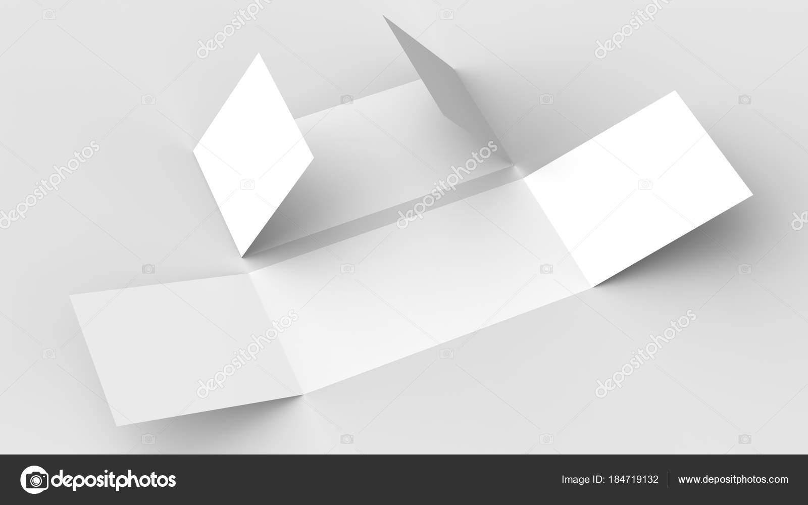 Single gate fold brochure mockup   Horizontal - landscape