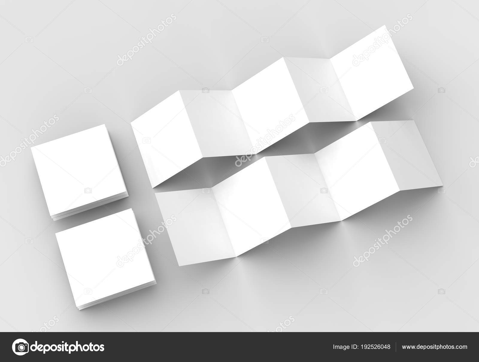 10 page leaflet 5 panel accordion fold square brochure mock up